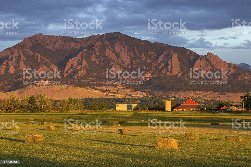 Boulder Flatirons royalty-free stock photo