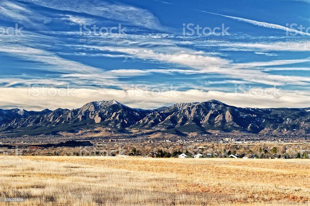 Boulder Flatirons stock photo