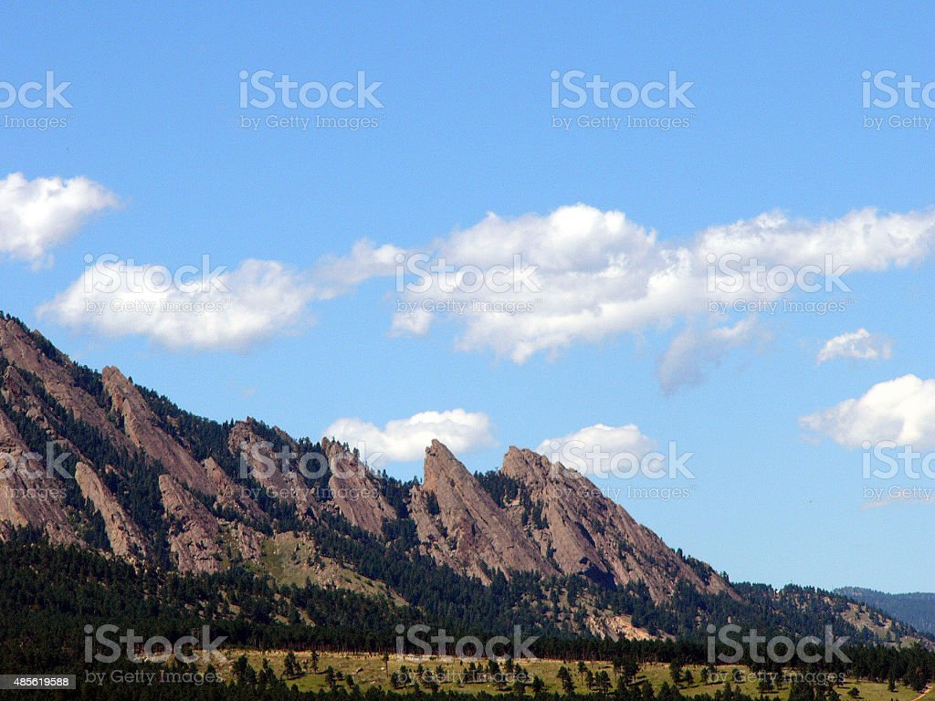 Boulder Flatirons Vista stock photo