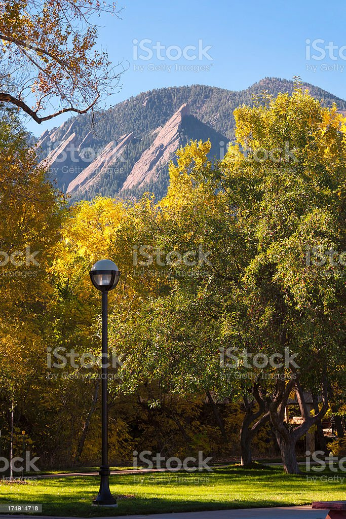 Boulder in Autumn royalty-free stock photo