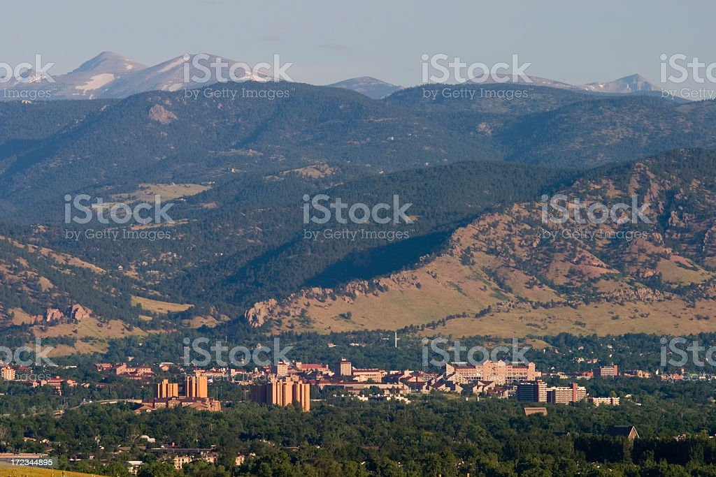 Boulder in the Morning royalty-free stock photo