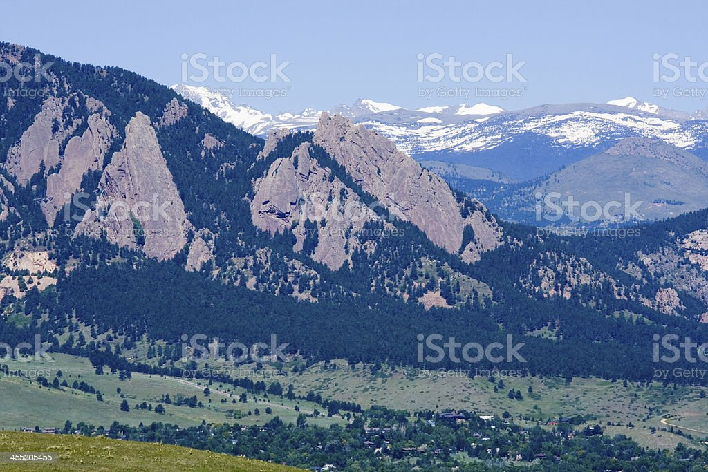Boulder in the Summertime stock photo