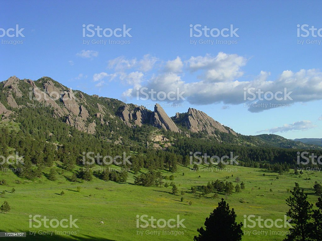 Boulder mountain parks royalty-free stock photo