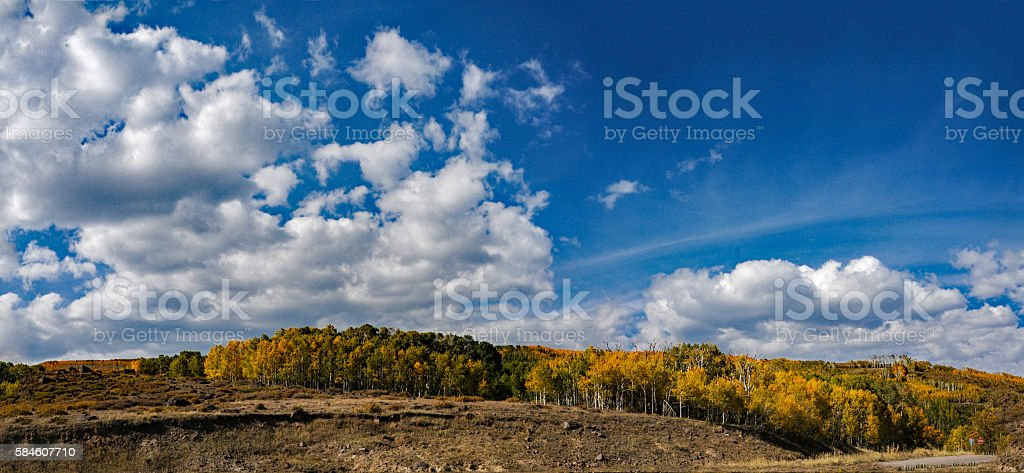 Boulder Mountain Utah Panorama stock photo
