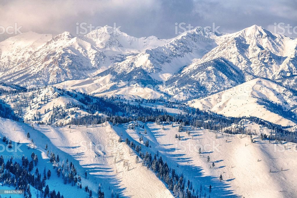 Boulder Mountains Winter - Idaho stock photo