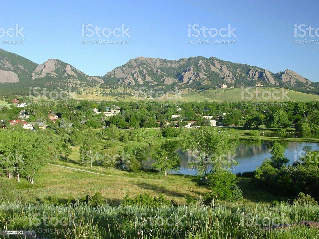 Boulder neighborhood stock photo