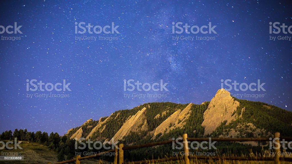 Boulder Night Sky stock photo