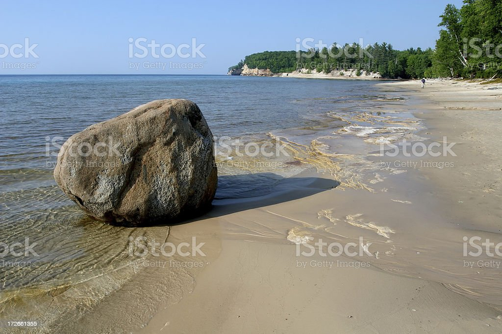 Boulder on the Beach stock photo