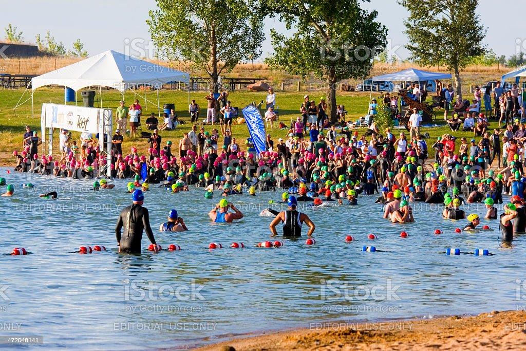 Boulder Peak Triathlon royalty-free stock photo