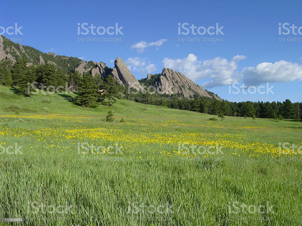 Boulder springtime royalty-free stock photo