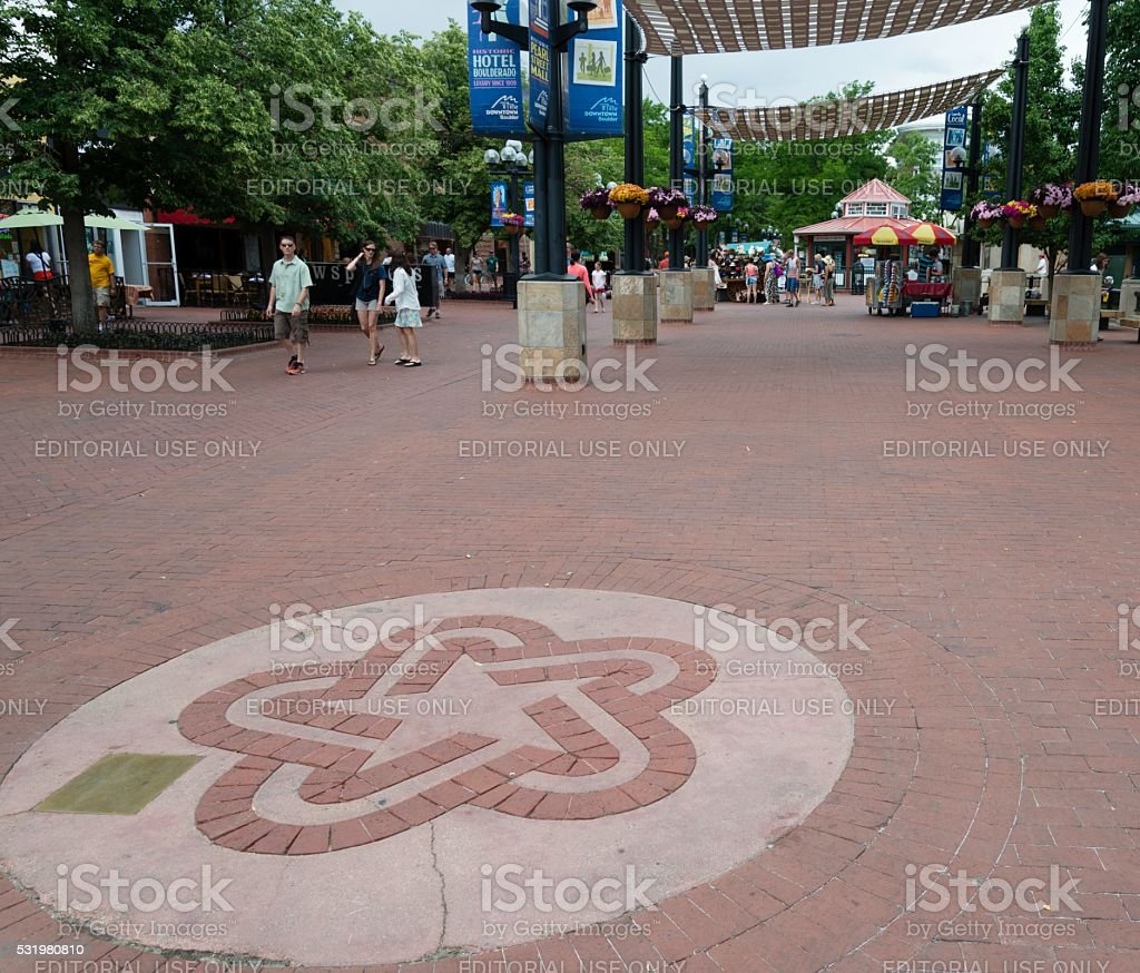 Boulder Time Capsule Project, Pearl Street Mall stock photo