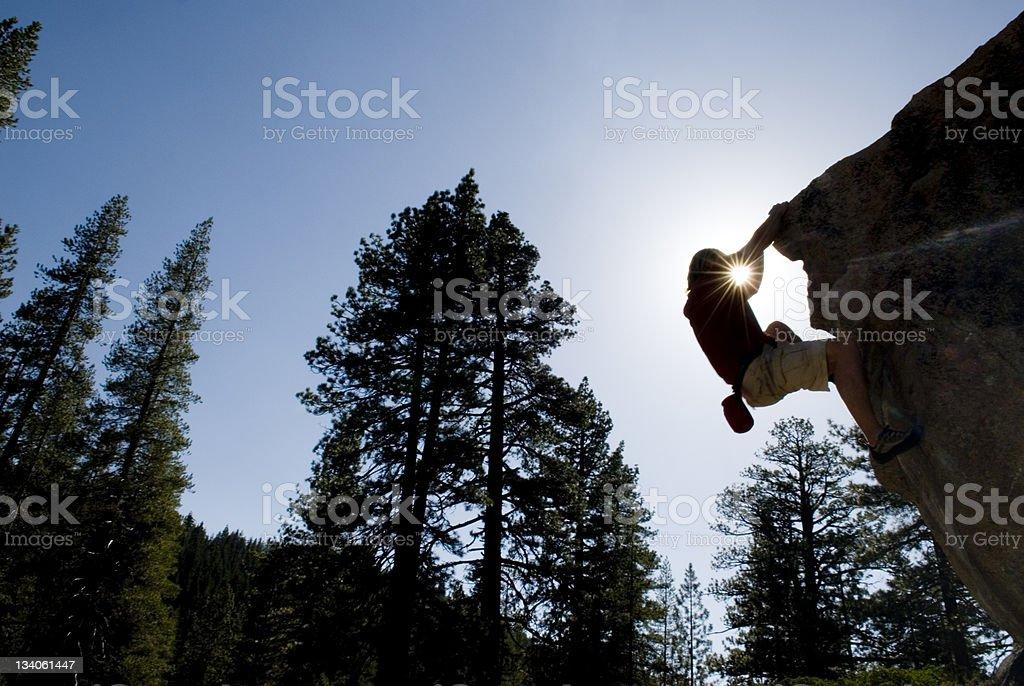 bouldering royalty-free stock photo