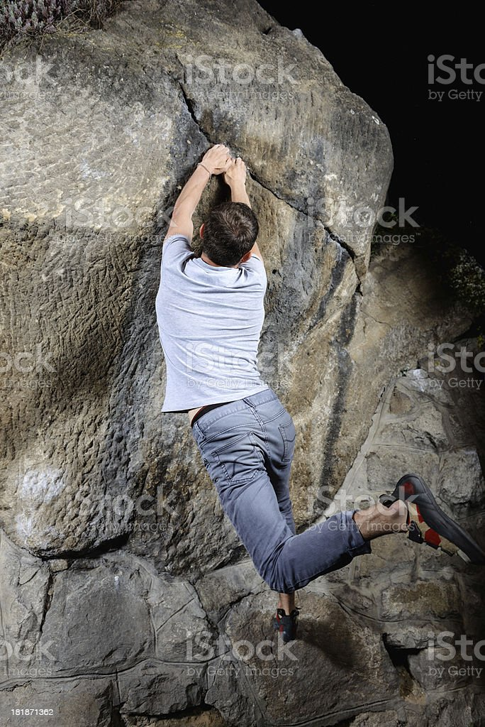 Bouldering time royalty-free stock photo