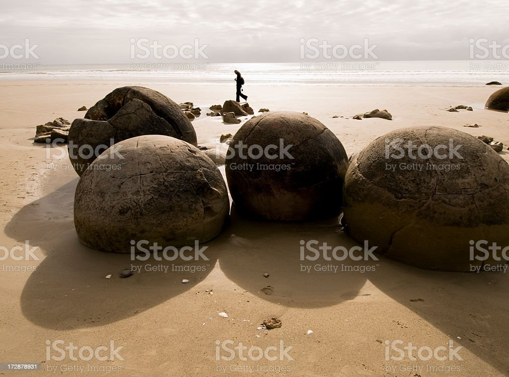 Boulders at Moreki royalty-free stock photo
