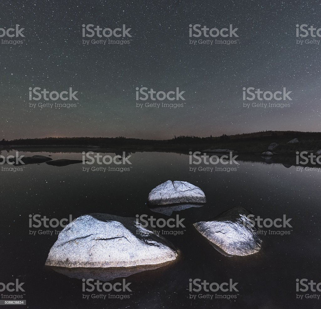 Boulders in Black stock photo