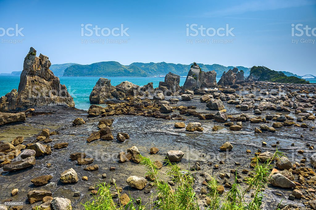 Boulders of Kumano, Japan stock photo