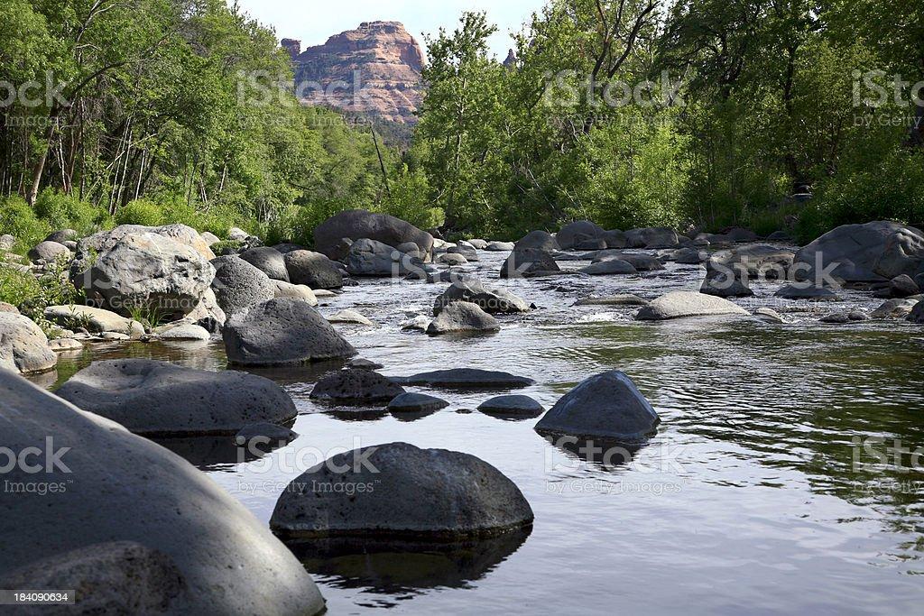 Boulders of Oak Creek Canyon Sedona Arizona royalty-free stock photo