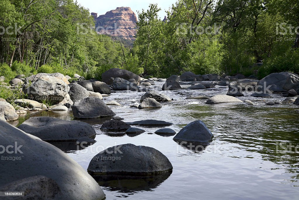 Boulders of Oak Creek Canyon Sedona Arizona stock photo