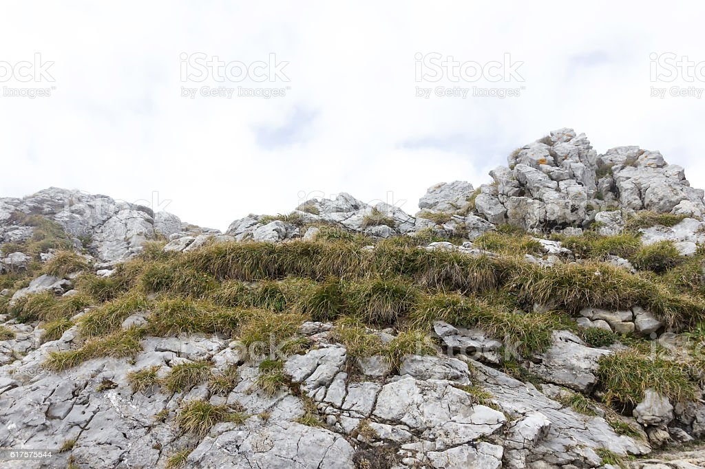 boulders of pilatus mountain in lucerne stock photo