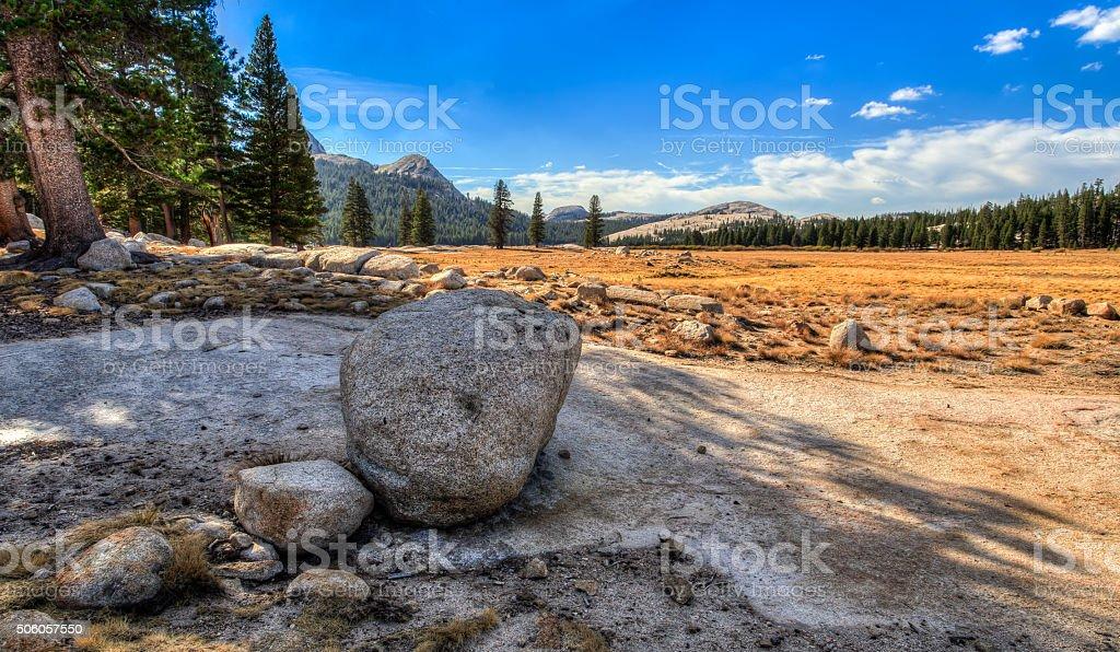 Boulders on Tuolumne Meadows stock photo