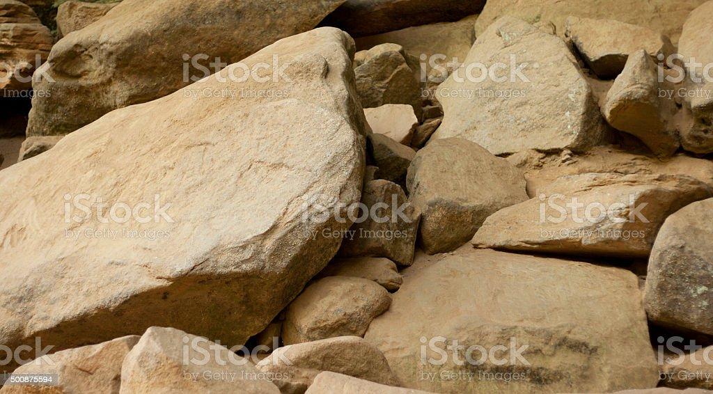 Bouldesr or Large Rocks stock photo
