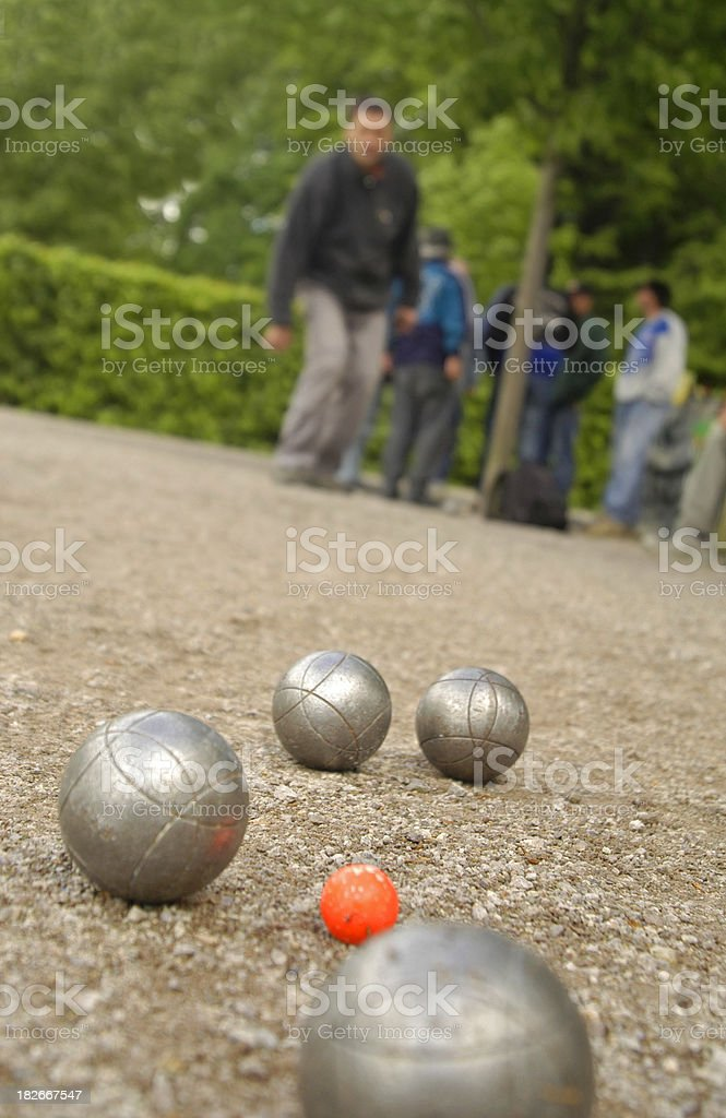 Boules in France stock photo