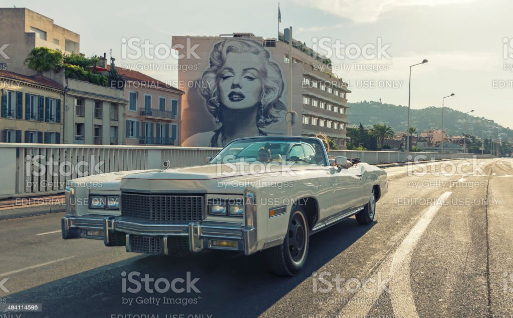 Boulevard d'Alsace, Cannes, French Riviera stock photo