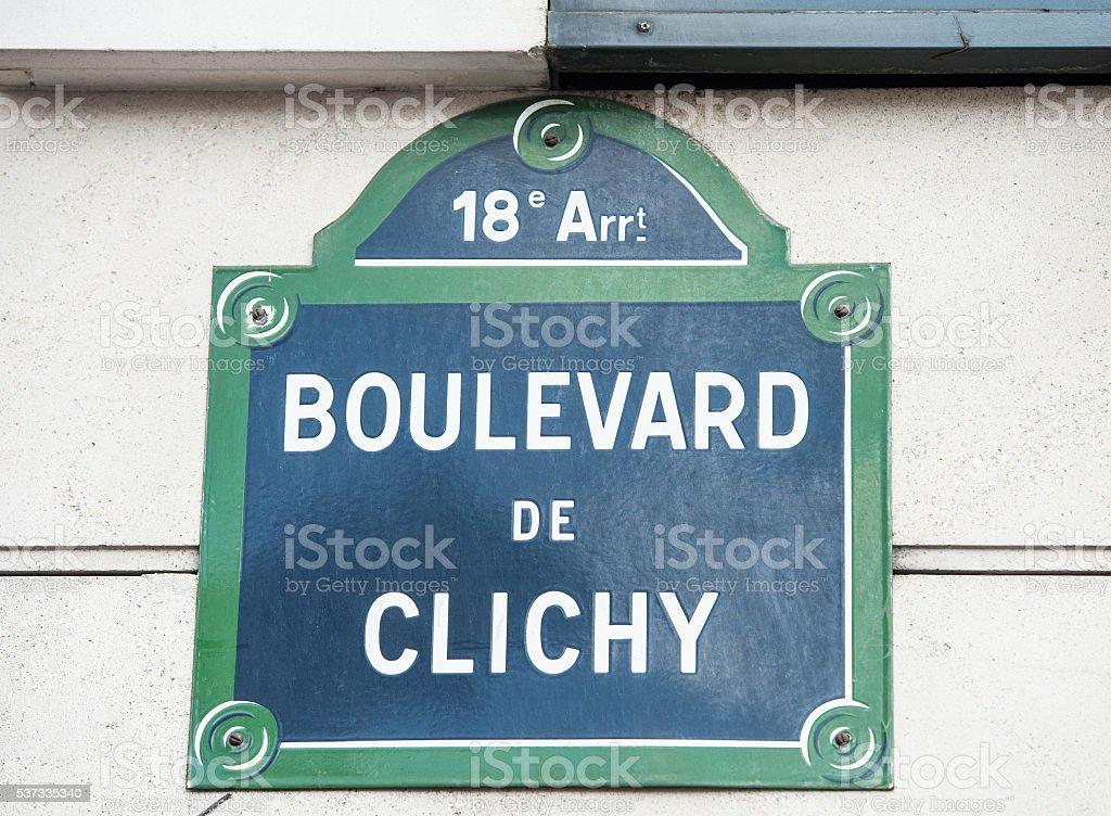 Boulevard de Clichy stock photo