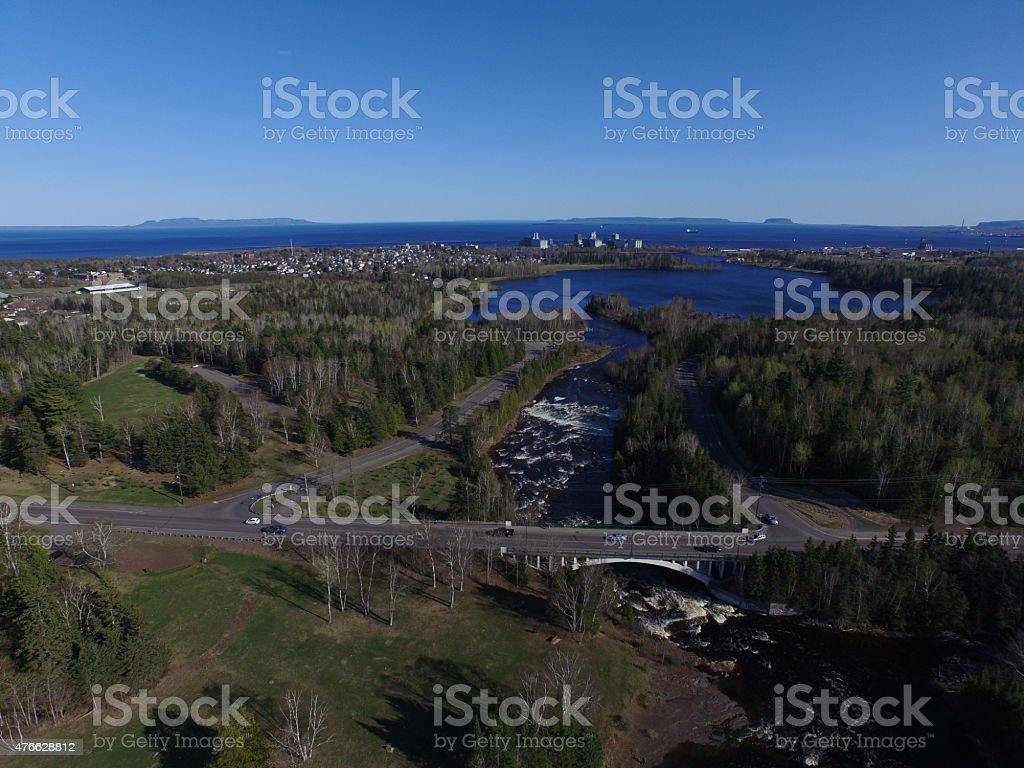 Boulevard with Superior stock photo