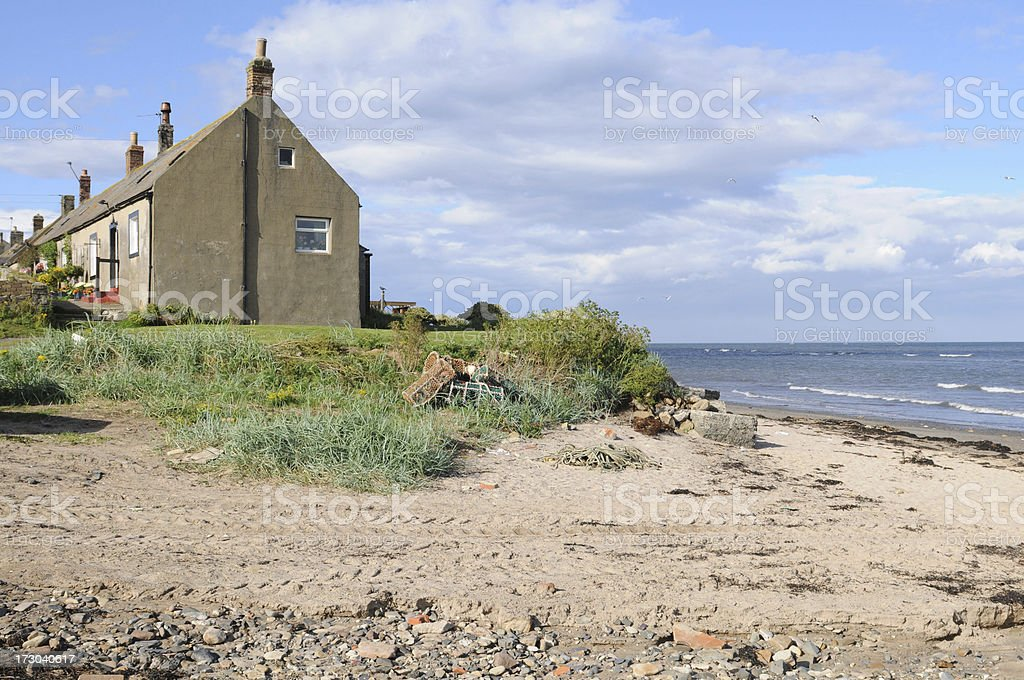 Boulmer Beach stock photo