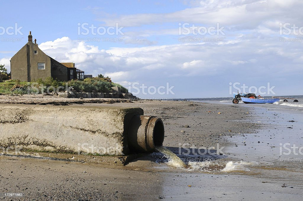 Boulmer Outflow stock photo