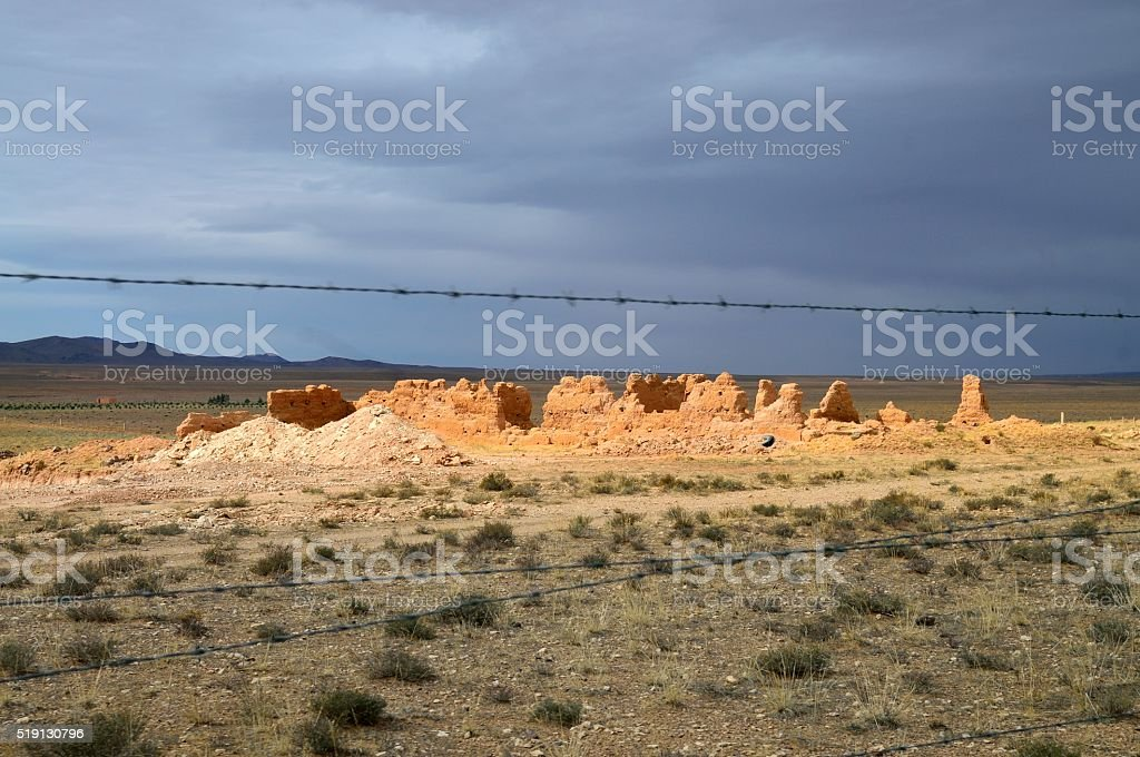 Boumaine Dades Ruins stock photo