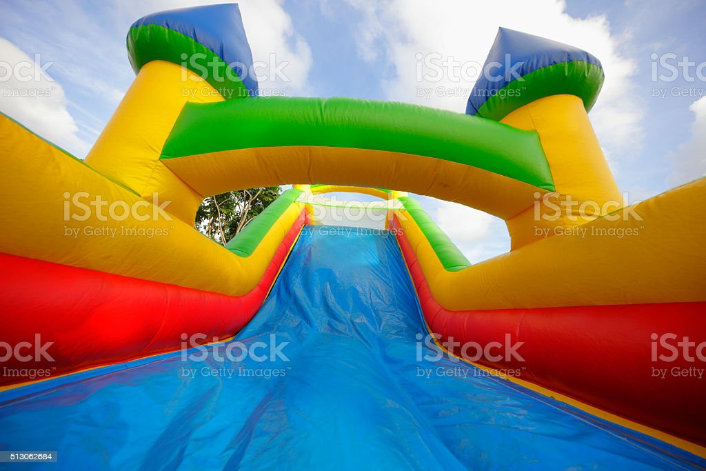 Bounce house stock photo