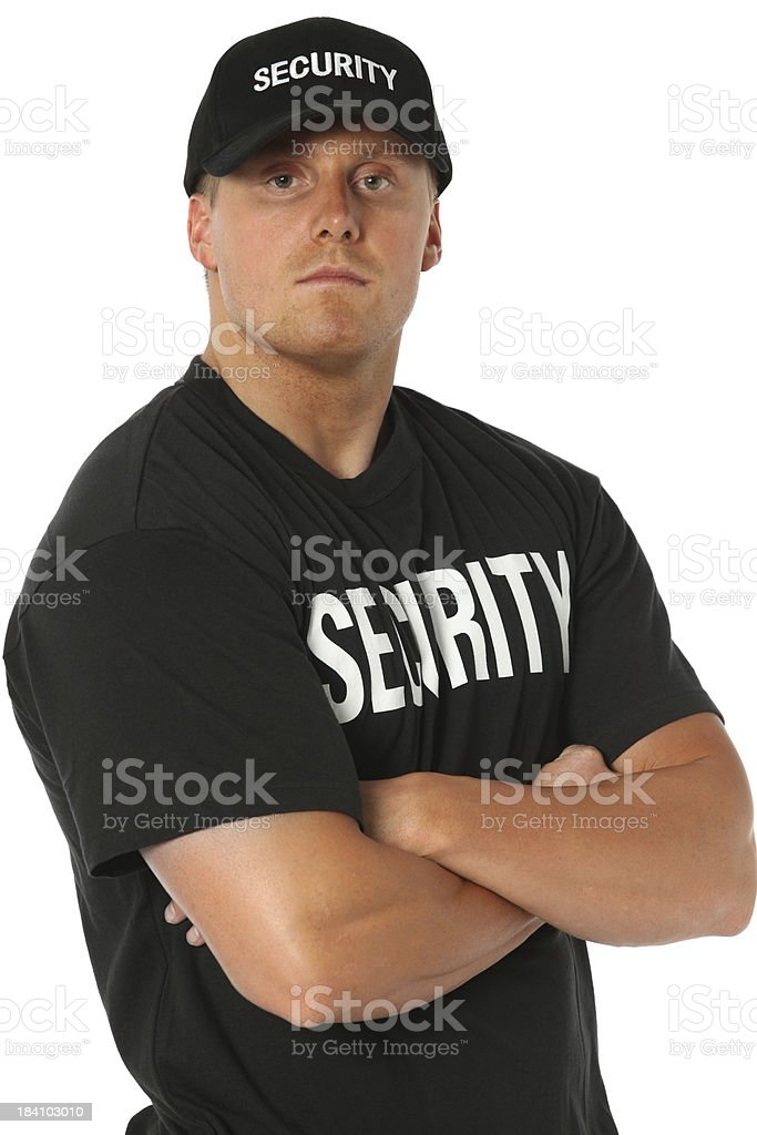 Bouncer royalty-free stock photo