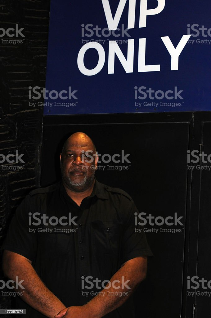 NYC bouncer VIP only stock photo