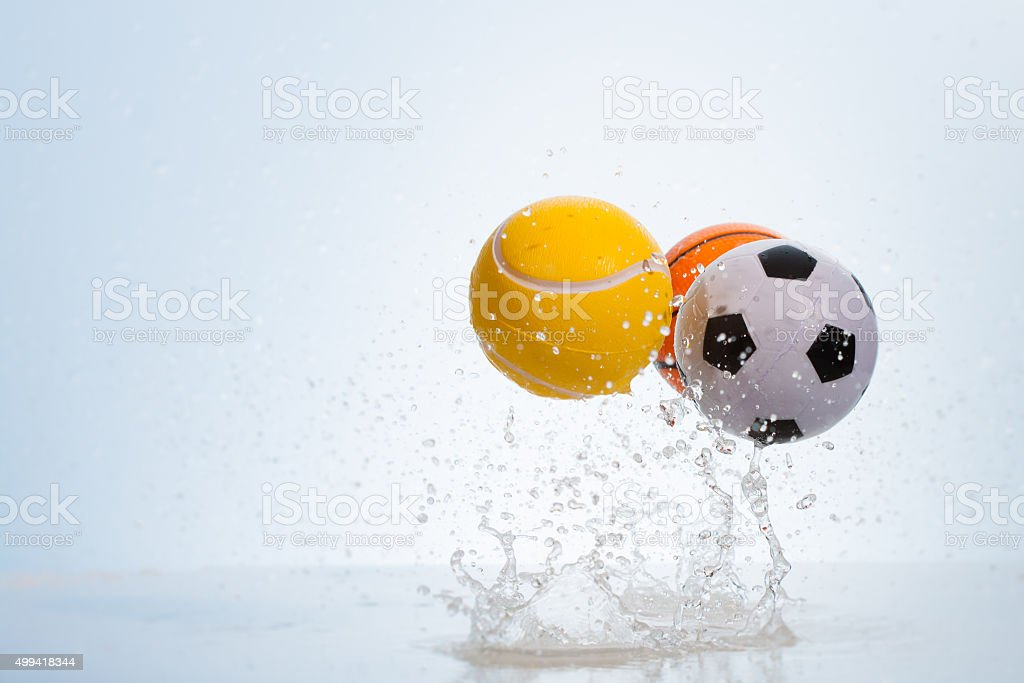 Bouncing balls stock photo