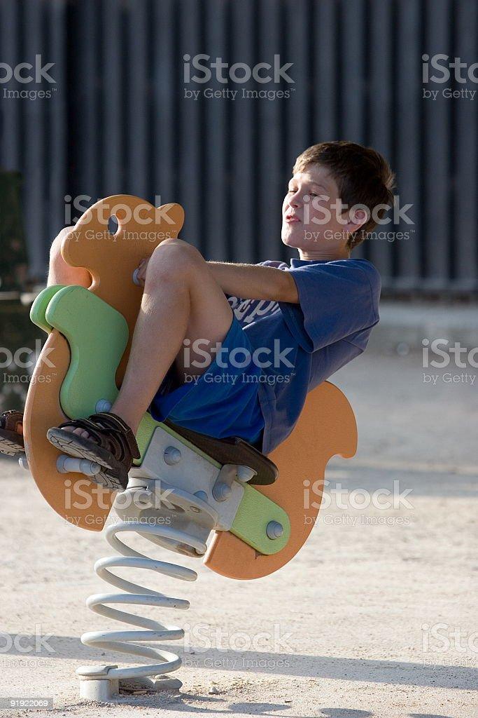 Bouncing boy stock photo