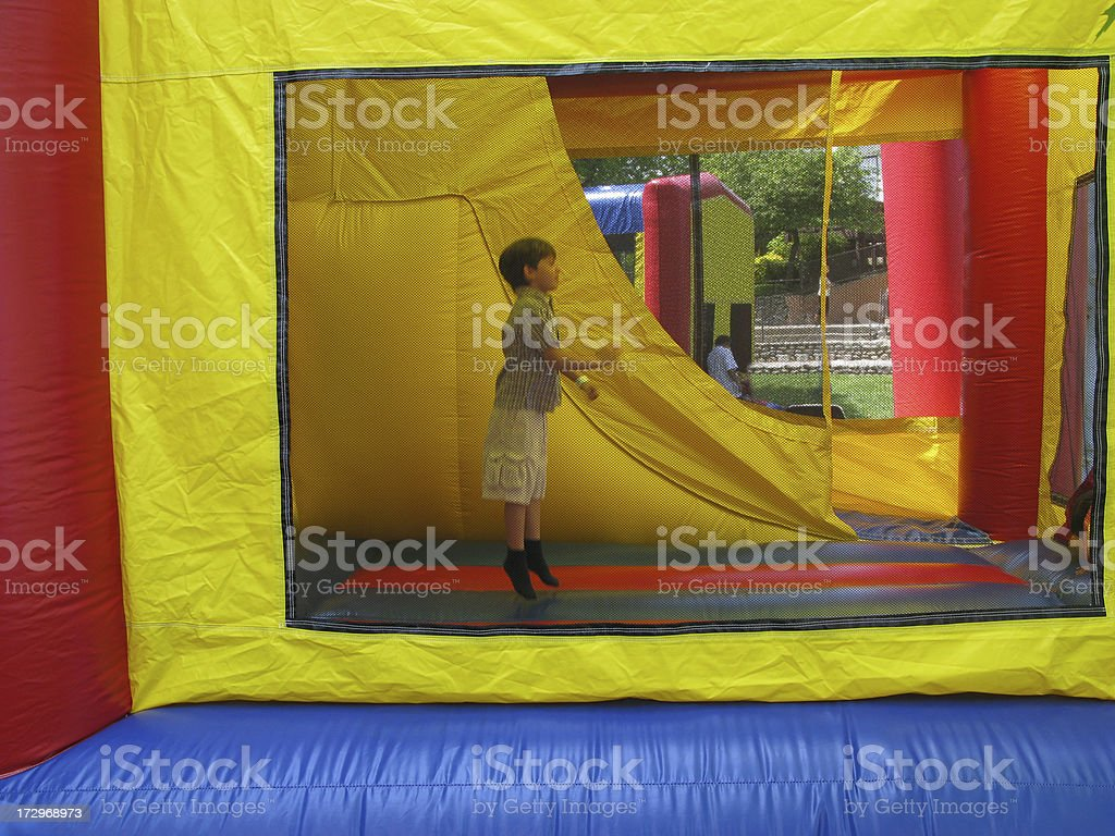 Bouncing Castle royalty-free stock photo