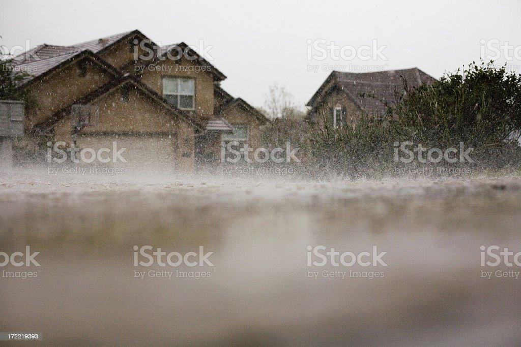 Bouncing Rain royalty-free stock photo