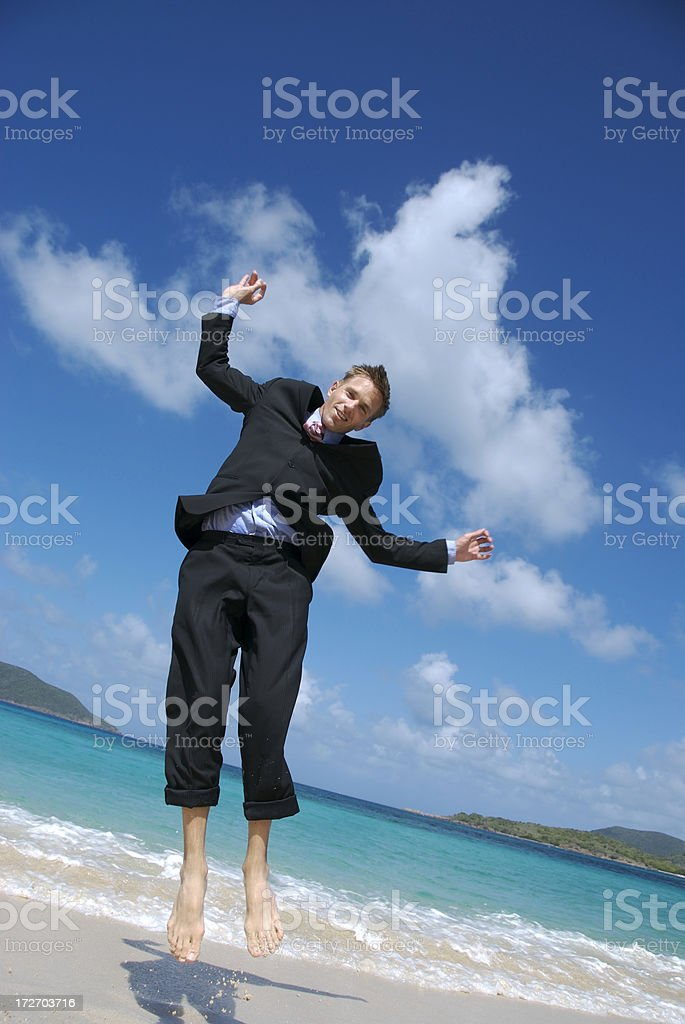 Bouncy Businessman royalty-free stock photo