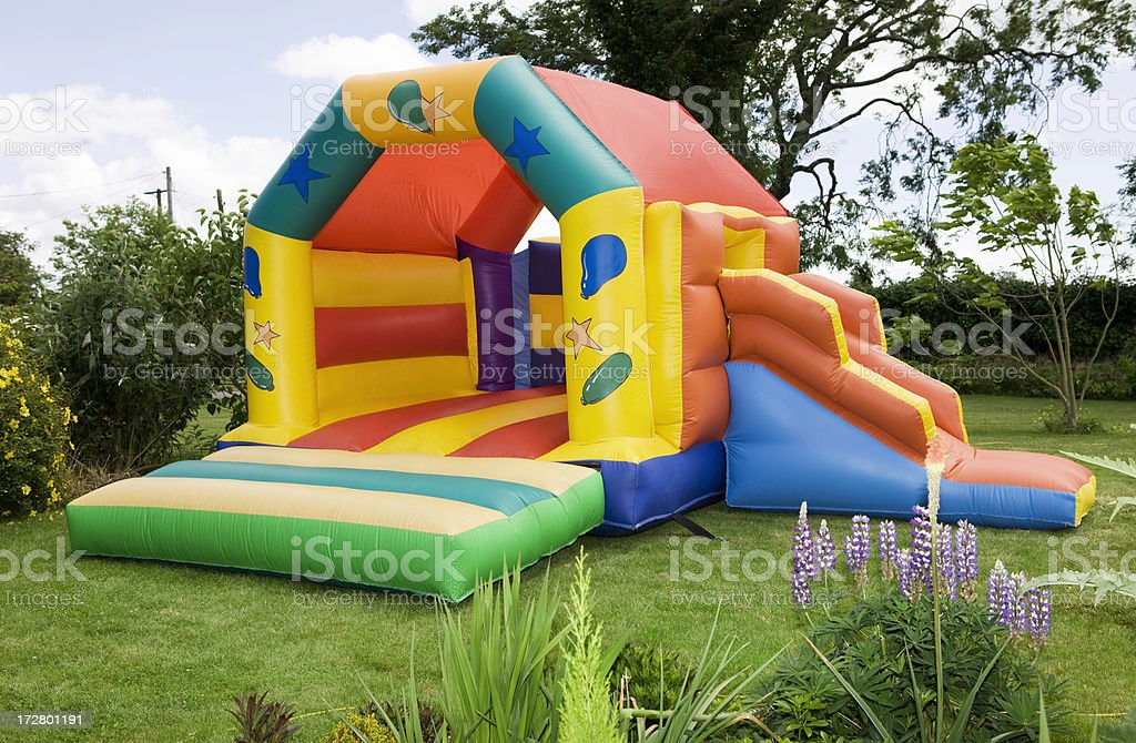 Bouncy castle stock photo