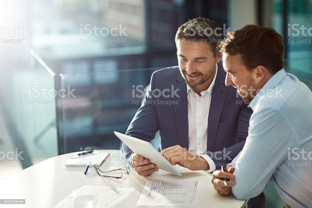 Bound by business stock photo