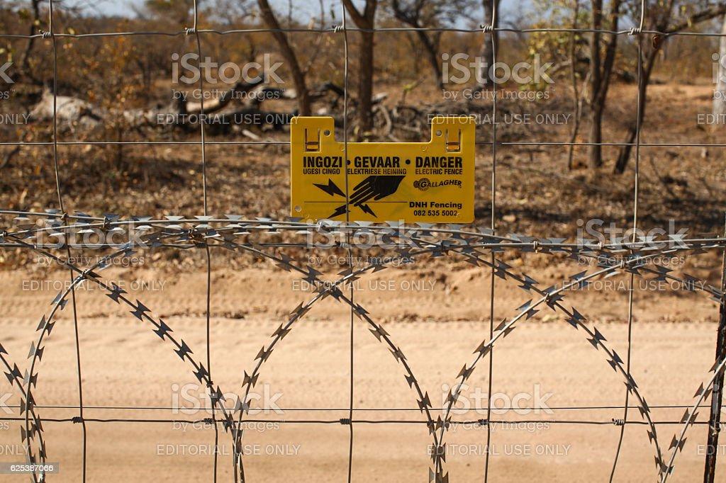 Boundary Fence stock photo