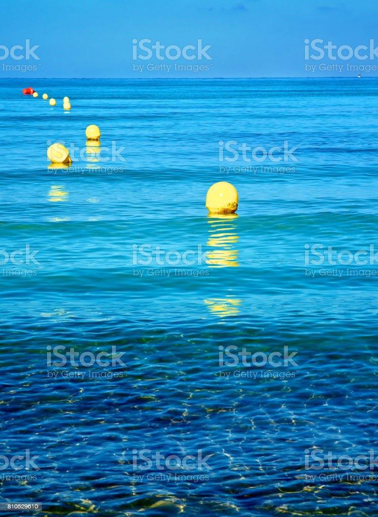 Boundary Mark Floats stock photo