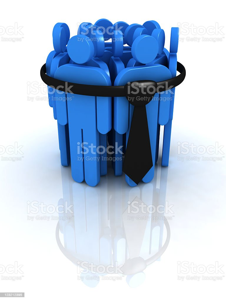 Bounded Business Team. royalty-free stock photo