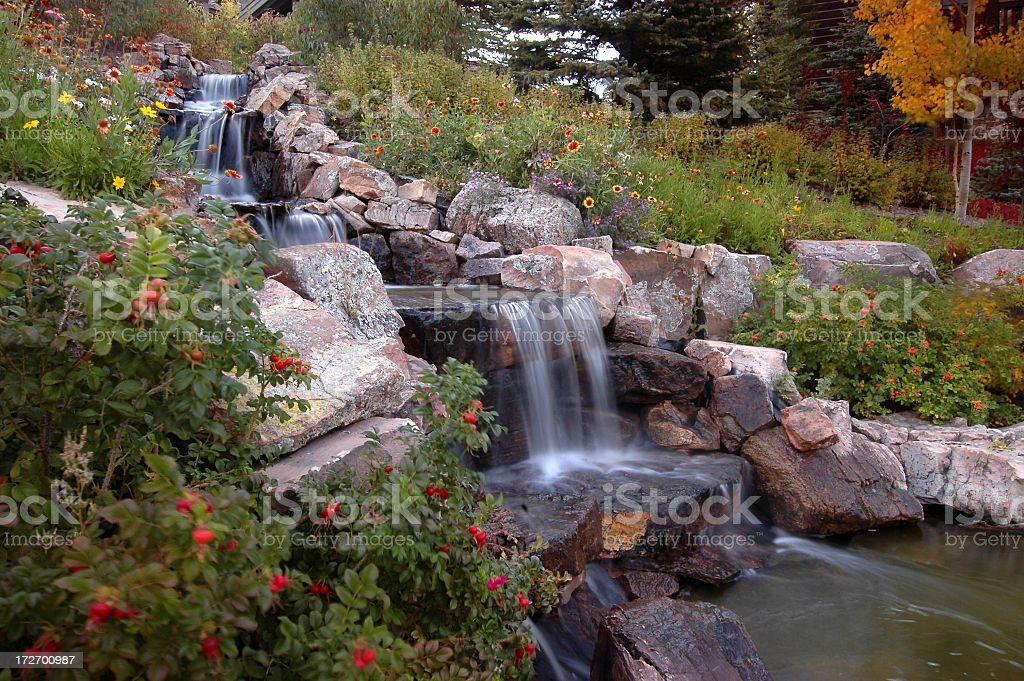 Bounding Creek in Landscaping royalty-free stock photo