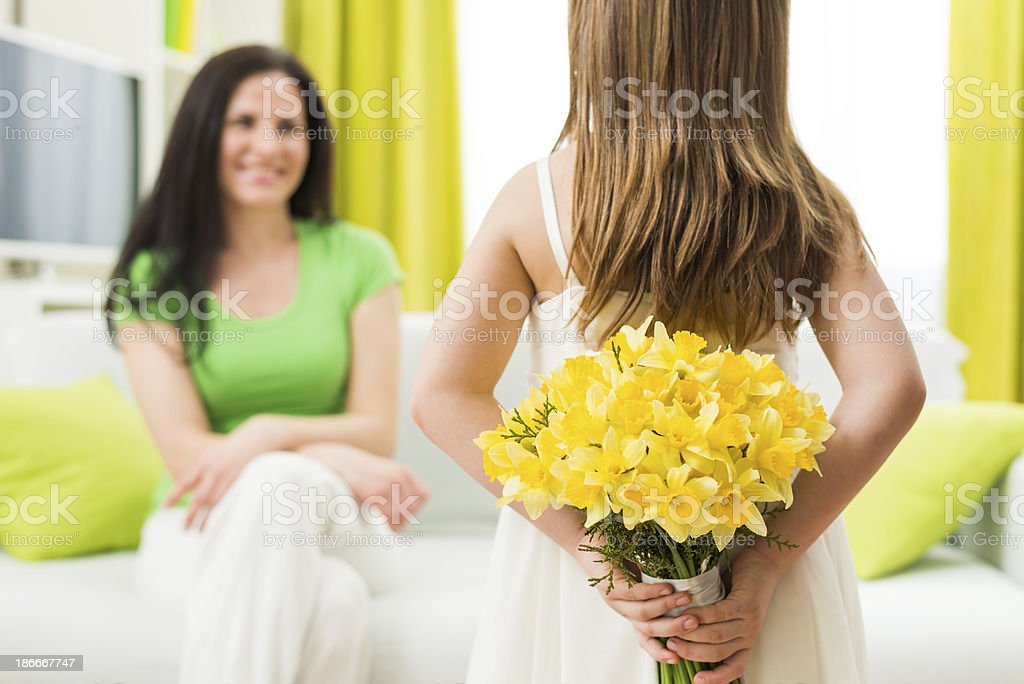 Bouquet for mother royalty-free stock photo