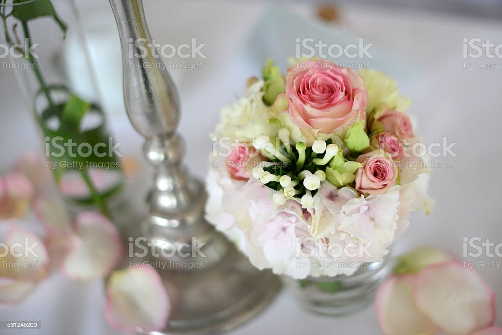 Bouquet for table decoration stock photo
