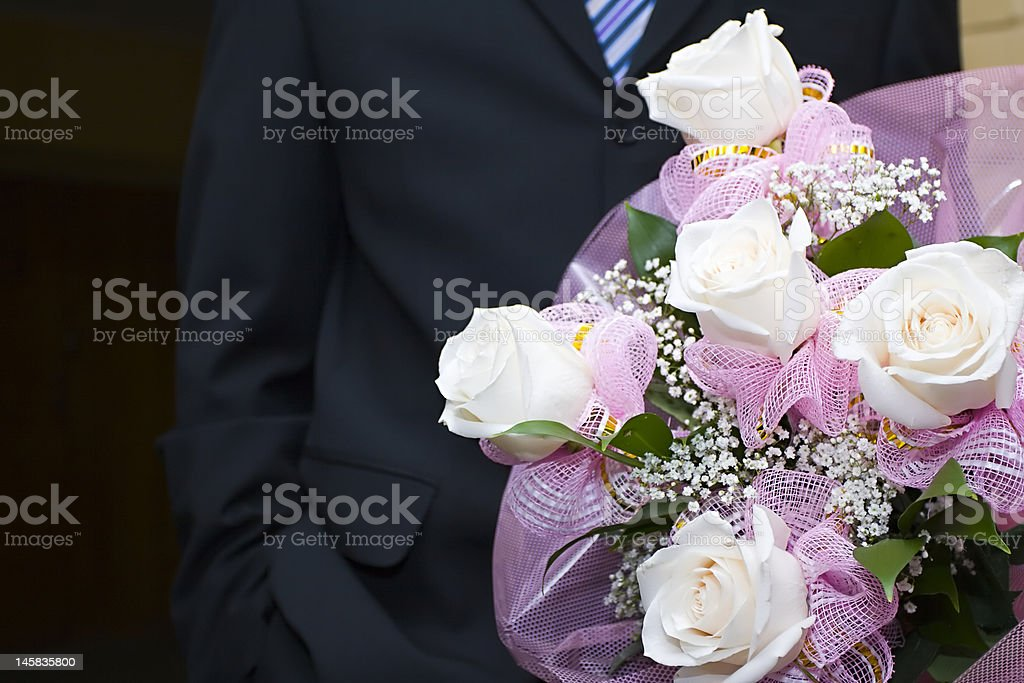 Bouquet in hands royalty-free stock photo