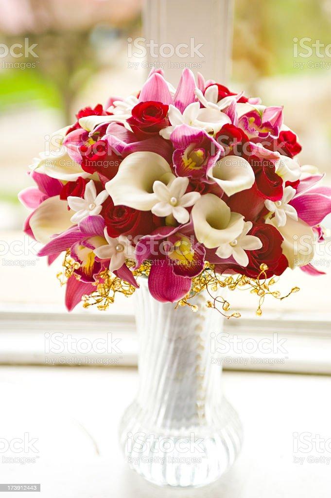 Bouquet in Vase stock photo